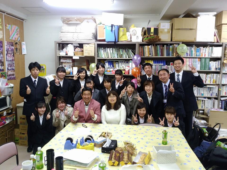難病学生患者を支援する会事務局の久保田夫妻とともに
